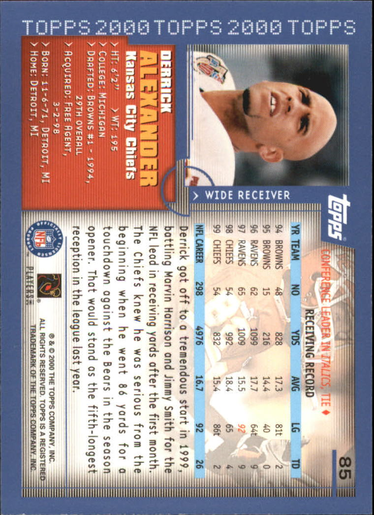 2000-Topps-Football-Base-Singles-3-299-Pick-Your-Cards thumbnail 105