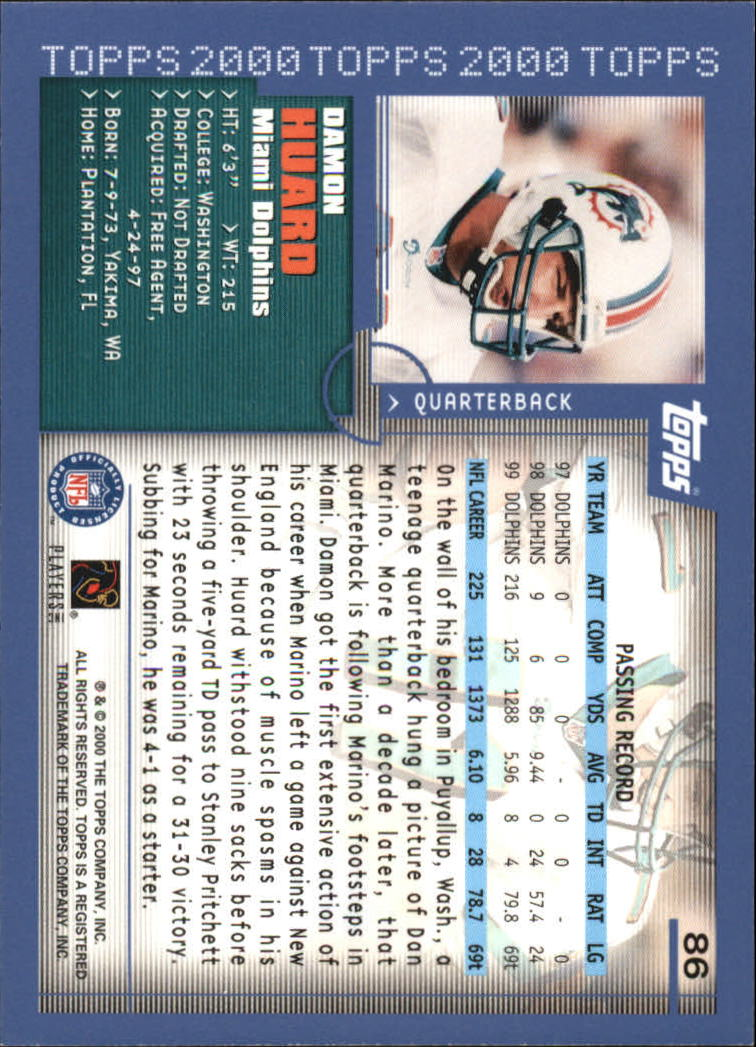 2000-Topps-Football-Base-Singles-3-299-Pick-Your-Cards thumbnail 107