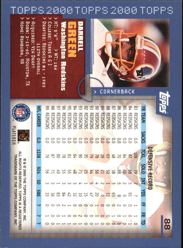 2000-Topps-Football-Base-Singles-3-299-Pick-Your-Cards thumbnail 111