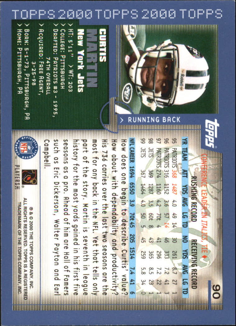 2000-Topps-Football-Base-Singles-3-299-Pick-Your-Cards thumbnail 113