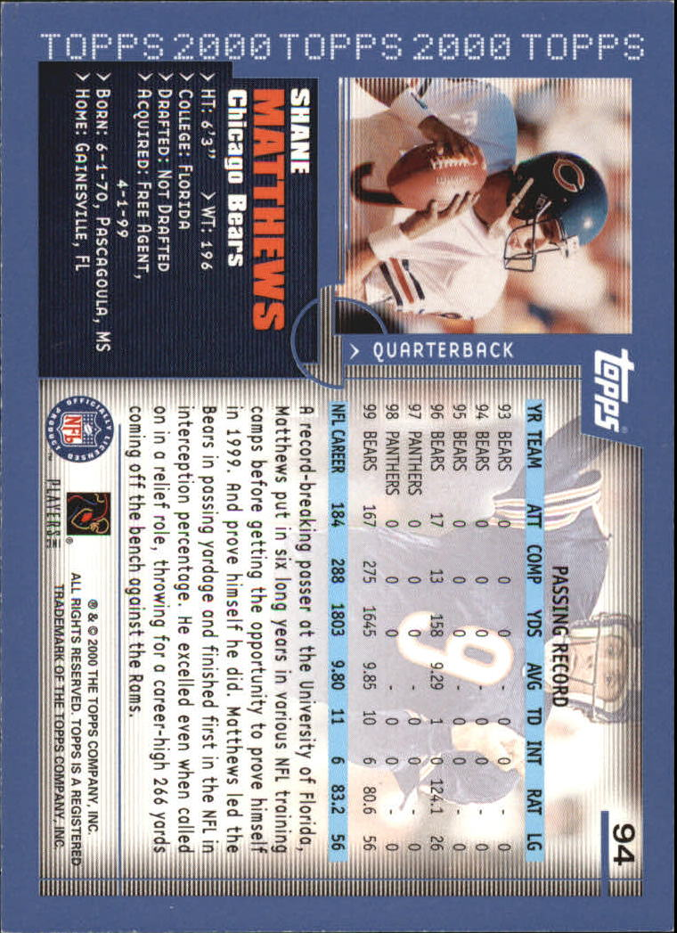 2000-Topps-Football-Base-Singles-3-299-Pick-Your-Cards thumbnail 119
