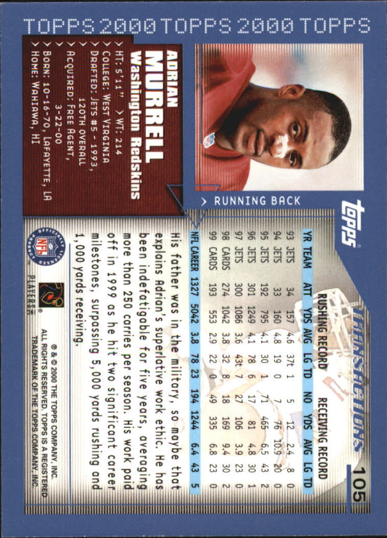 2000-Topps-Football-Base-Singles-3-299-Pick-Your-Cards thumbnail 133