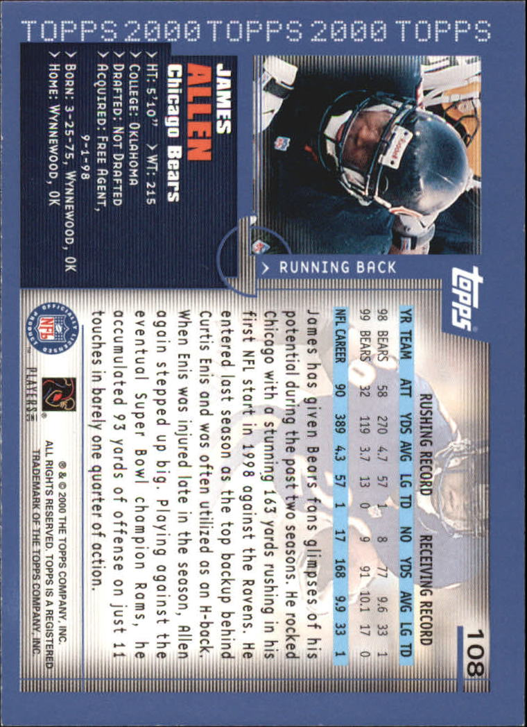 2000-Topps-Football-Base-Singles-3-299-Pick-Your-Cards thumbnail 137