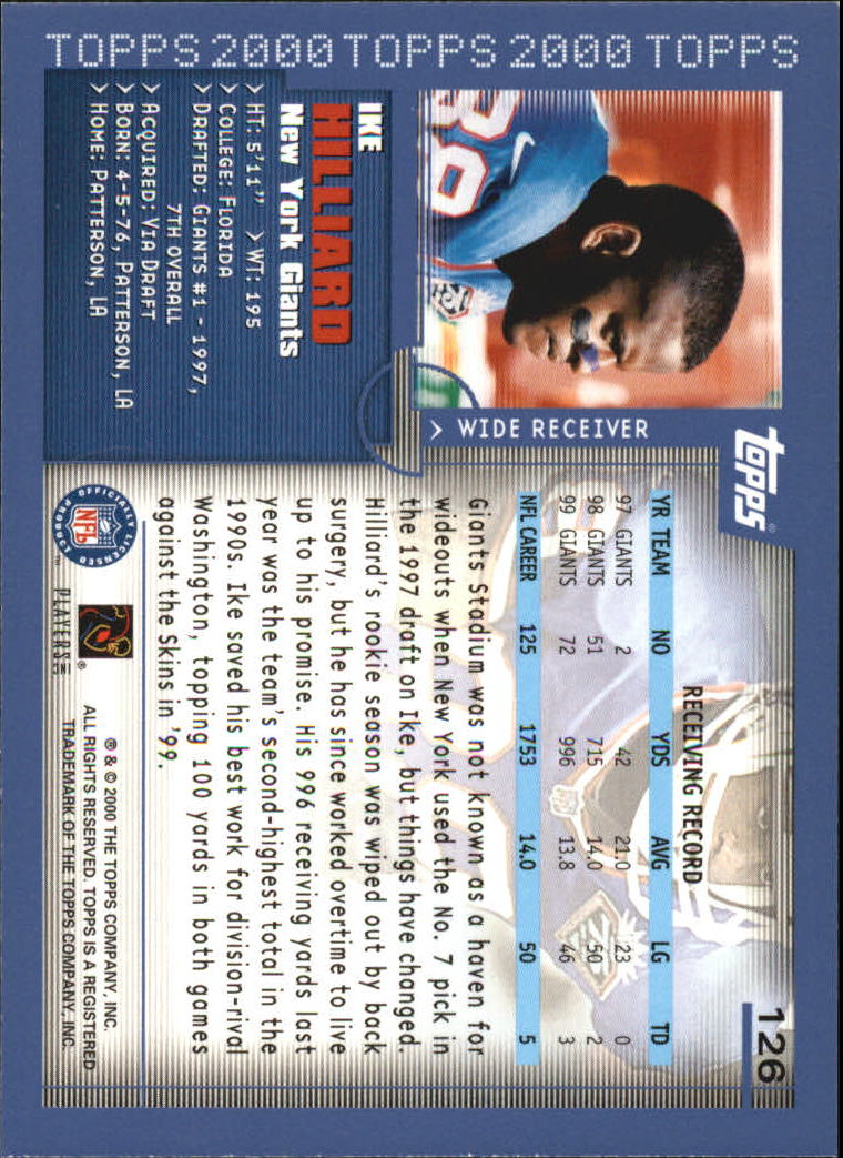 2000-Topps-Football-Base-Singles-3-299-Pick-Your-Cards thumbnail 161
