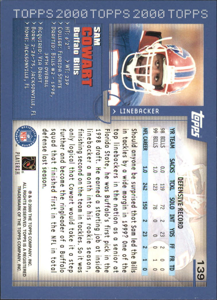2000-Topps-Football-Base-Singles-3-299-Pick-Your-Cards thumbnail 181