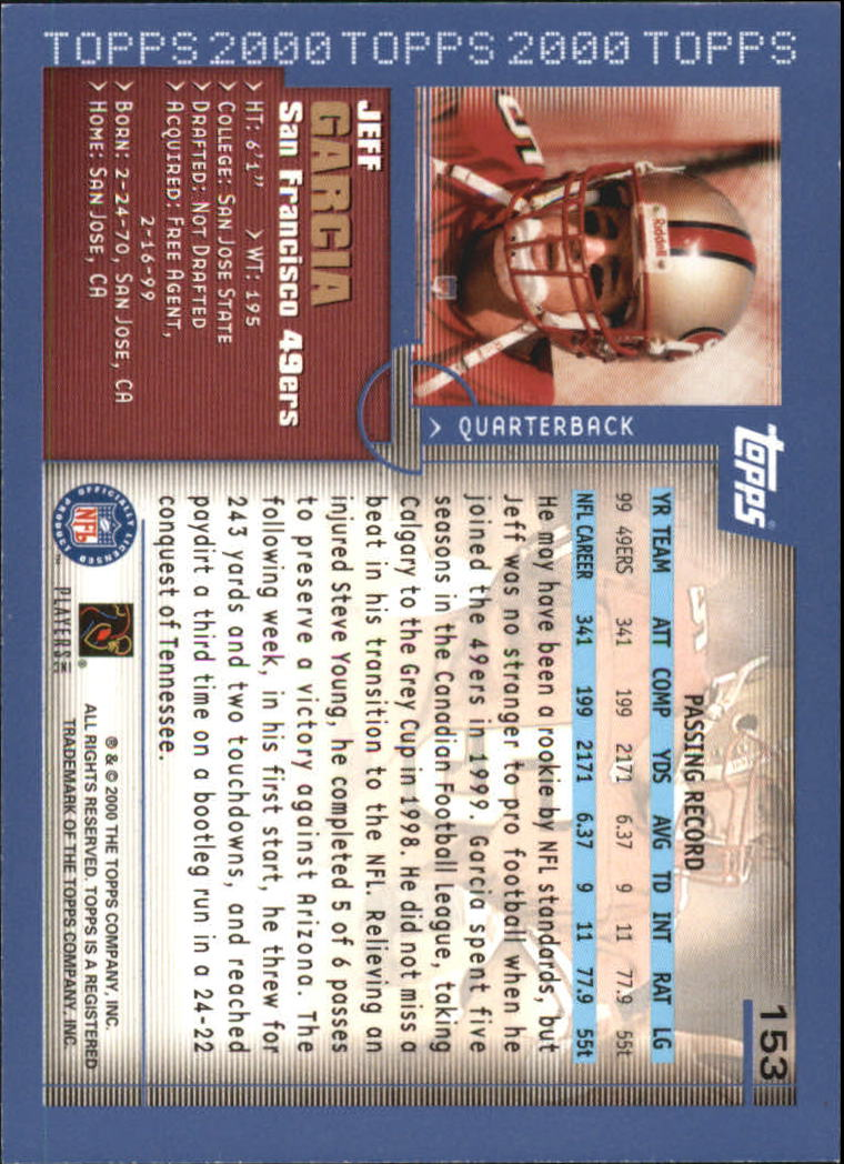 2000-Topps-Football-Base-Singles-3-299-Pick-Your-Cards thumbnail 201