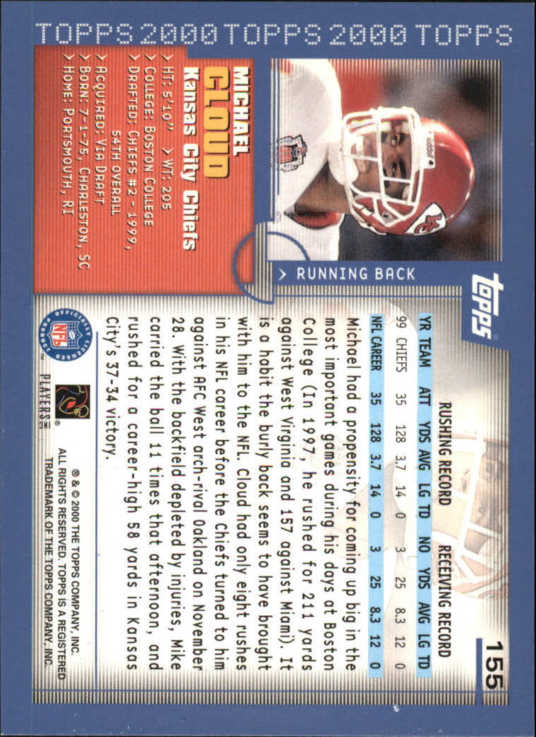 2000-Topps-Football-Base-Singles-3-299-Pick-Your-Cards thumbnail 203