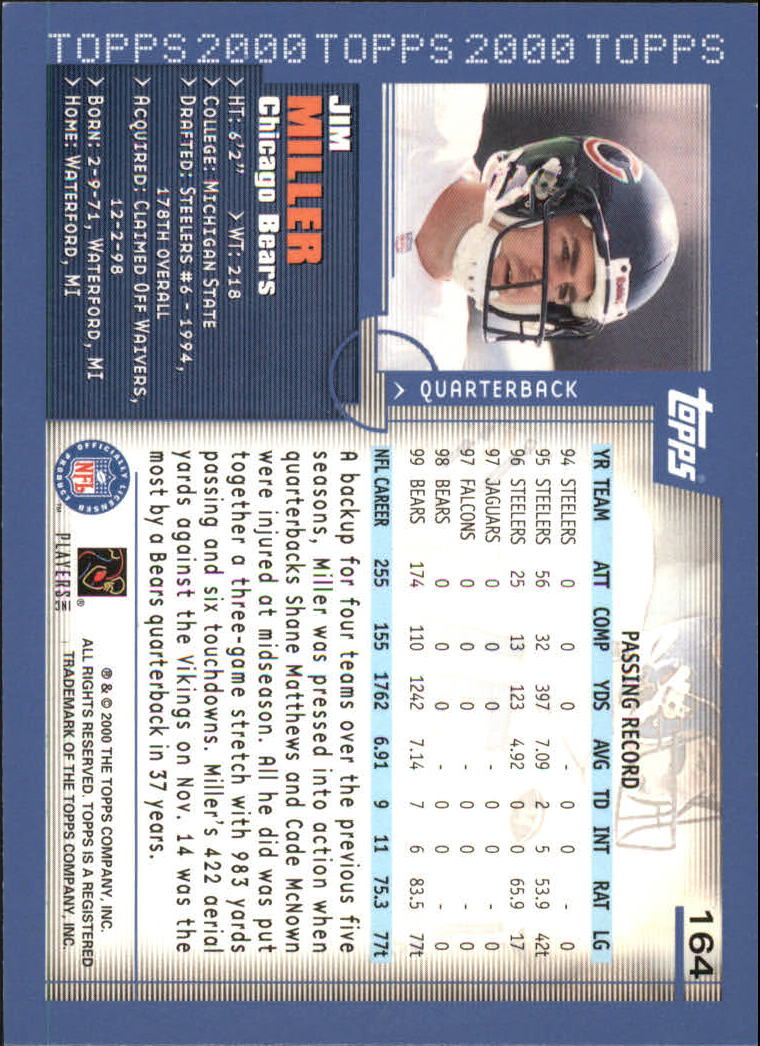 2000-Topps-Football-Base-Singles-3-299-Pick-Your-Cards thumbnail 215