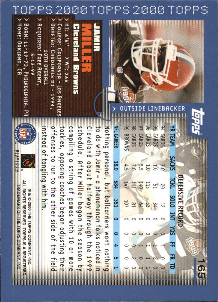 2000-Topps-Football-Base-Singles-3-299-Pick-Your-Cards thumbnail 217