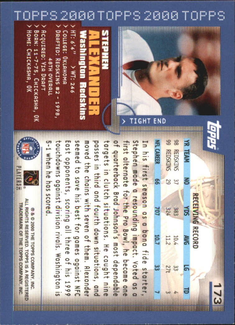 2000-Topps-Football-Base-Singles-3-299-Pick-Your-Cards thumbnail 229
