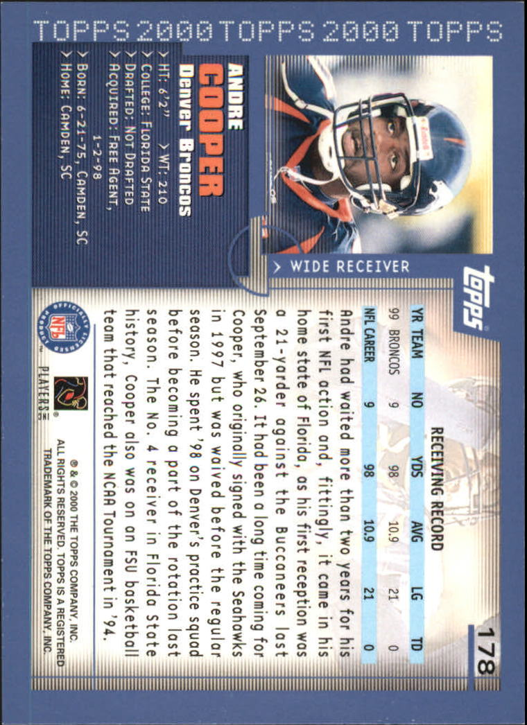 2000-Topps-Football-Base-Singles-3-299-Pick-Your-Cards thumbnail 235