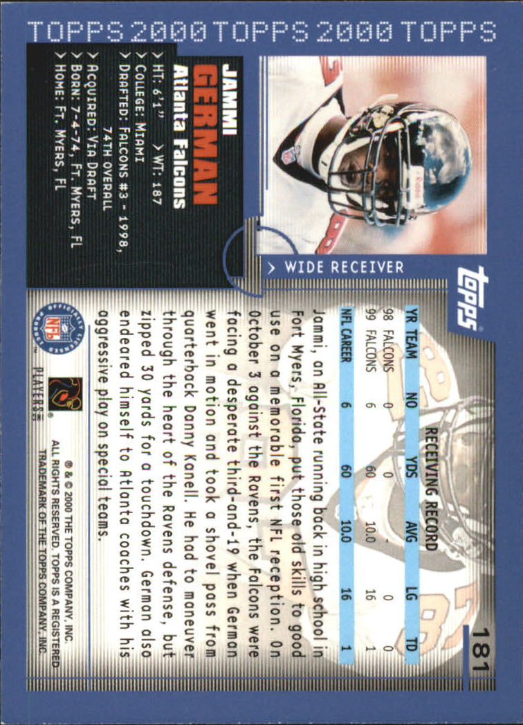 2000-Topps-Football-Base-Singles-3-299-Pick-Your-Cards thumbnail 241