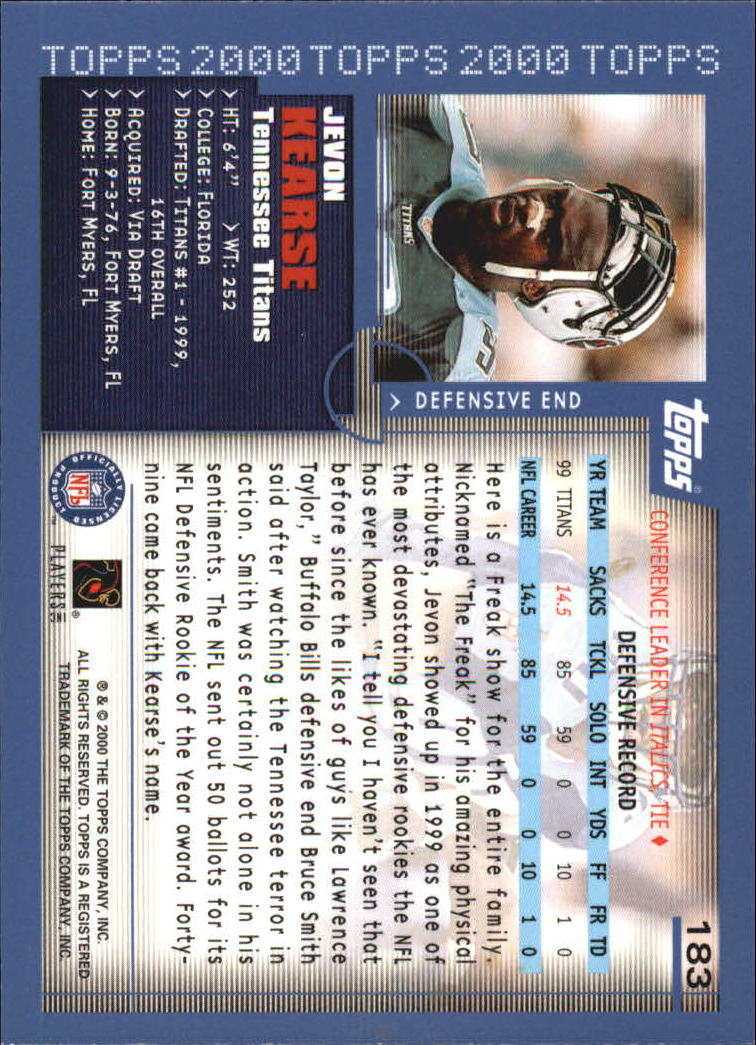 2000-Topps-Football-Base-Singles-3-299-Pick-Your-Cards thumbnail 245