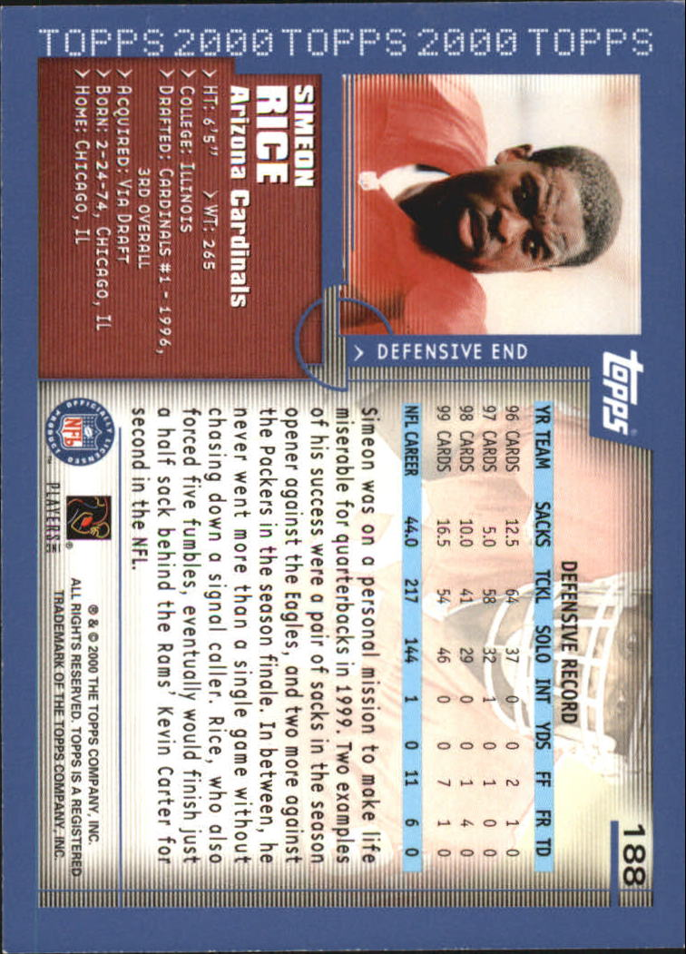 2000-Topps-Football-Base-Singles-3-299-Pick-Your-Cards thumbnail 255
