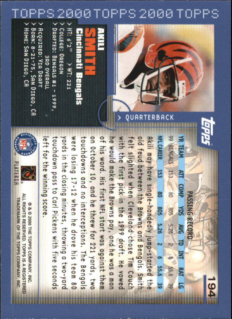 2000-Topps-Football-Base-Singles-3-299-Pick-Your-Cards thumbnail 263