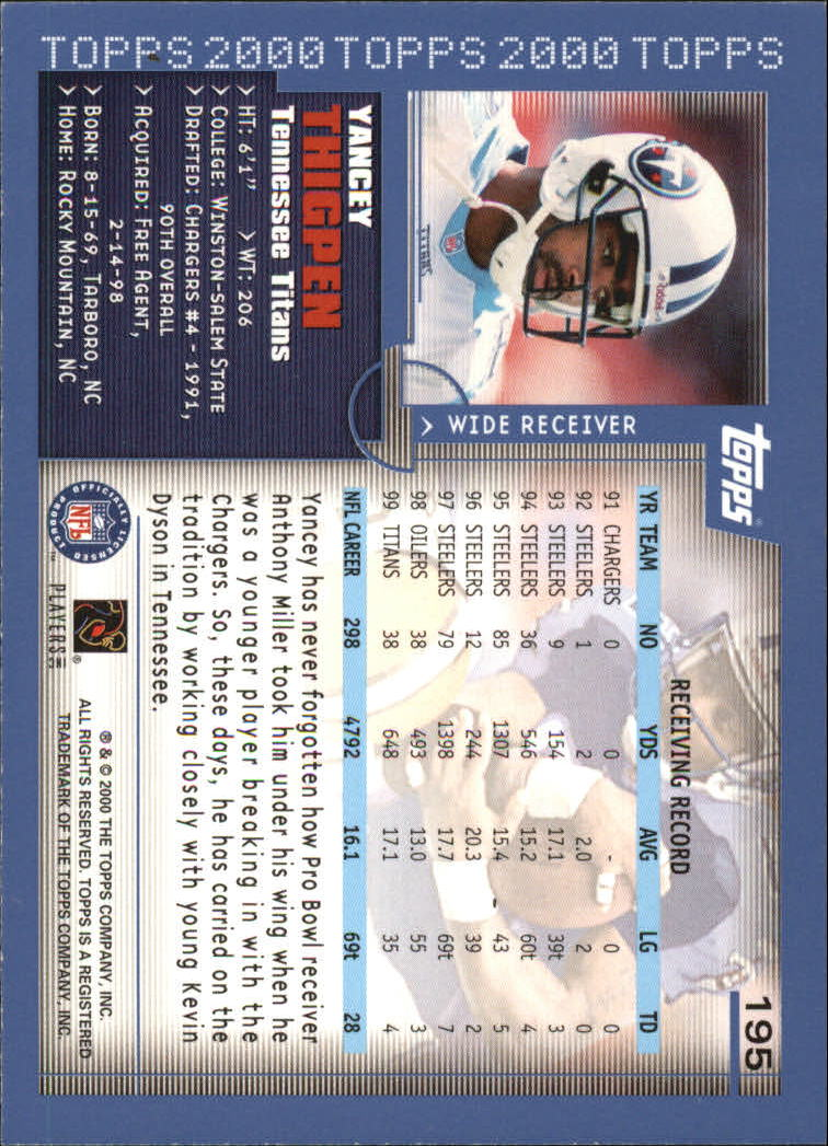 2000-Topps-Football-Base-Singles-3-299-Pick-Your-Cards thumbnail 265