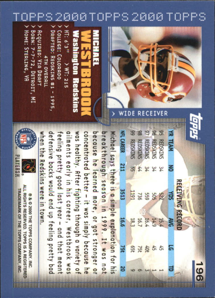 2000-Topps-Football-Base-Singles-3-299-Pick-Your-Cards thumbnail 267
