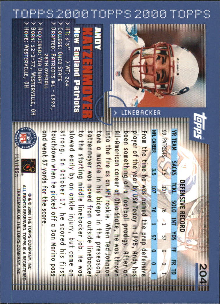2000-Topps-Football-Base-Singles-3-299-Pick-Your-Cards thumbnail 279