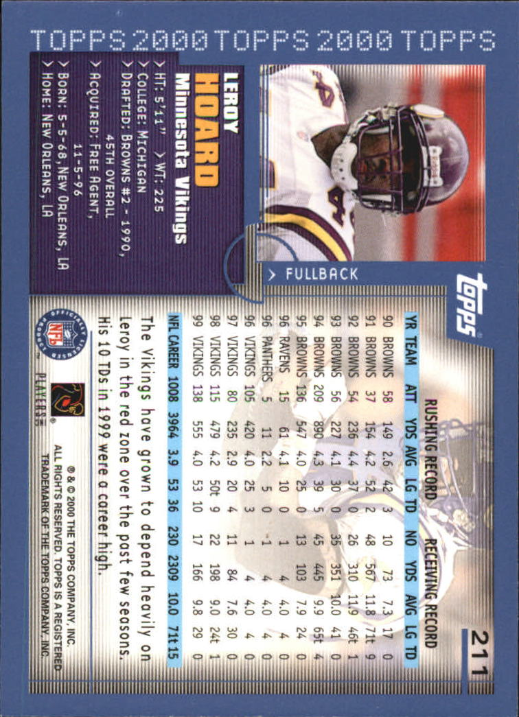 2000-Topps-Football-Base-Singles-3-299-Pick-Your-Cards thumbnail 291