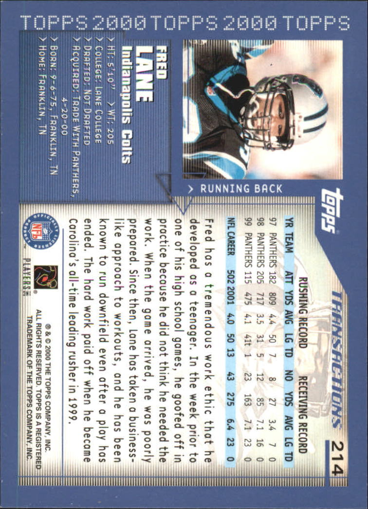 2000-Topps-Football-Base-Singles-3-299-Pick-Your-Cards thumbnail 297