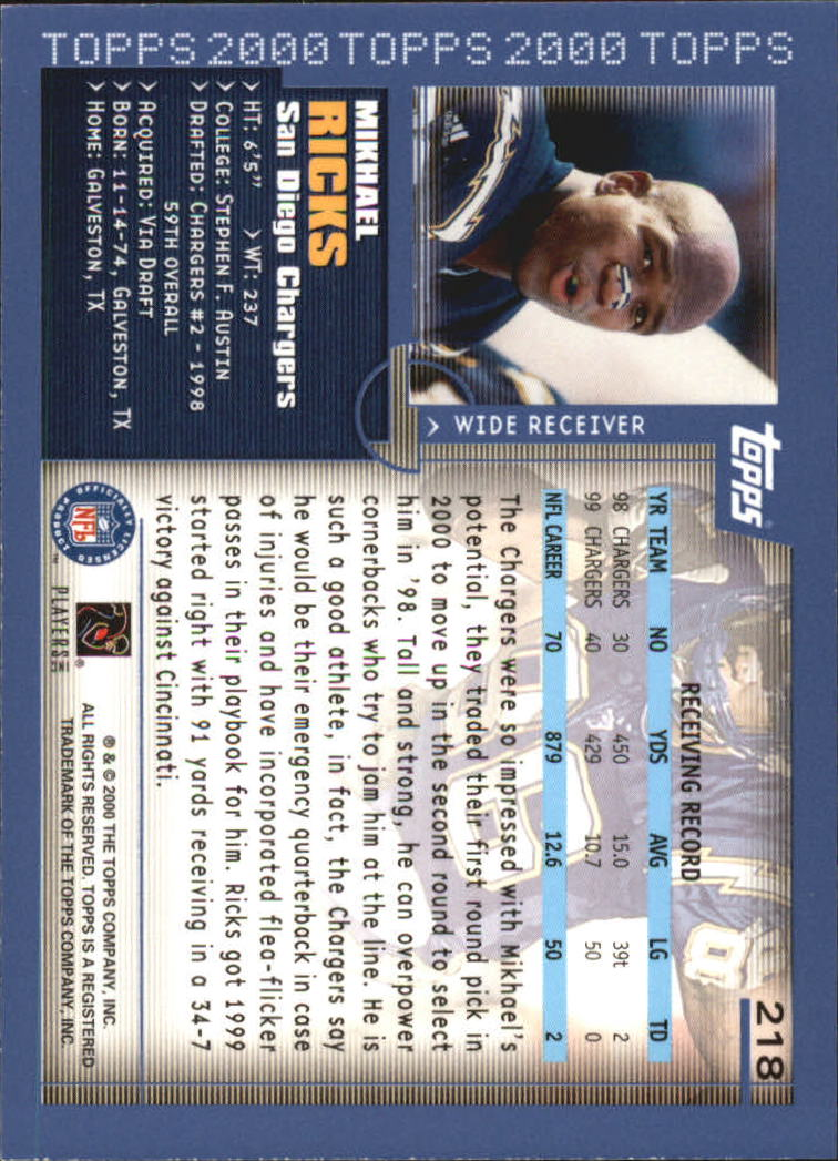 2000-Topps-Football-Base-Singles-3-299-Pick-Your-Cards thumbnail 299