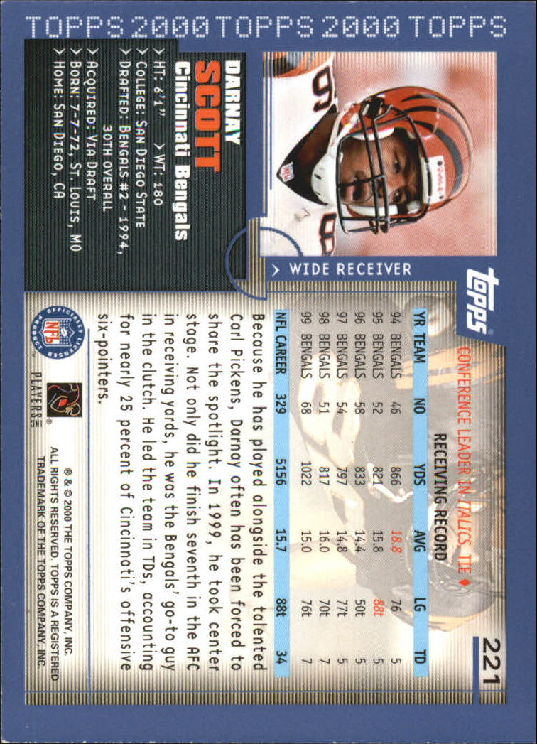 2000-Topps-Football-Base-Singles-3-299-Pick-Your-Cards thumbnail 303