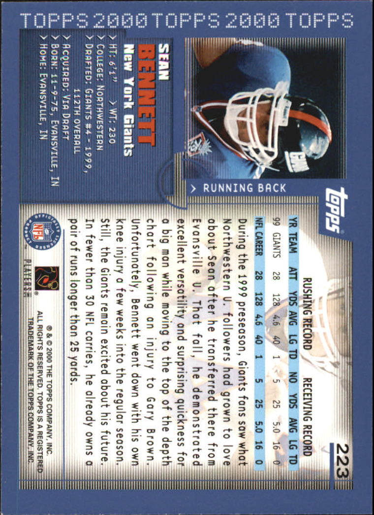2000-Topps-Football-Base-Singles-3-299-Pick-Your-Cards thumbnail 307