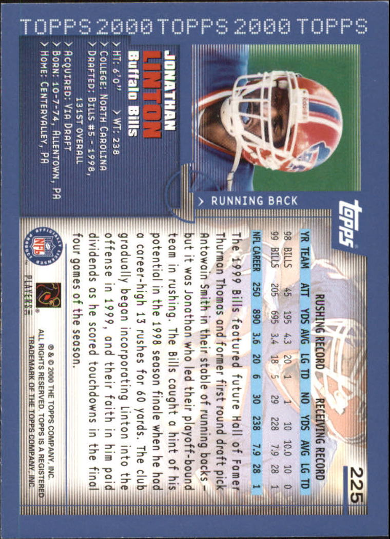 2000-Topps-Football-Base-Singles-3-299-Pick-Your-Cards thumbnail 311