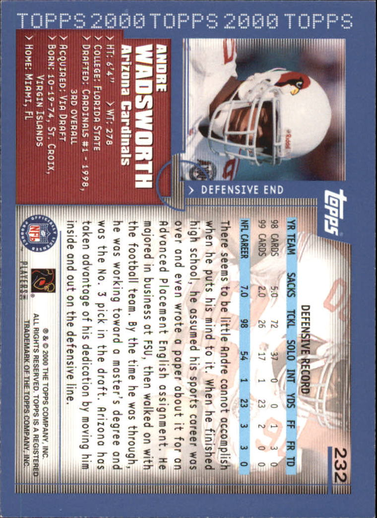 2000-Topps-Football-Base-Singles-3-299-Pick-Your-Cards thumbnail 321