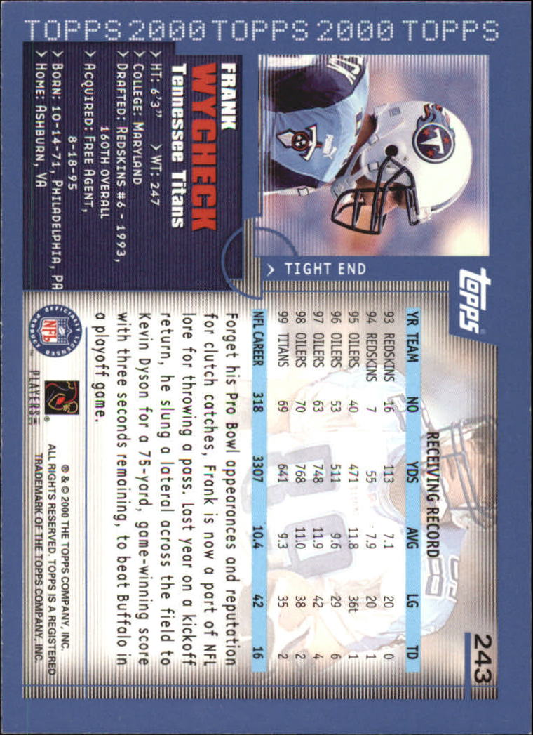 2000-Topps-Football-Base-Singles-3-299-Pick-Your-Cards thumbnail 337