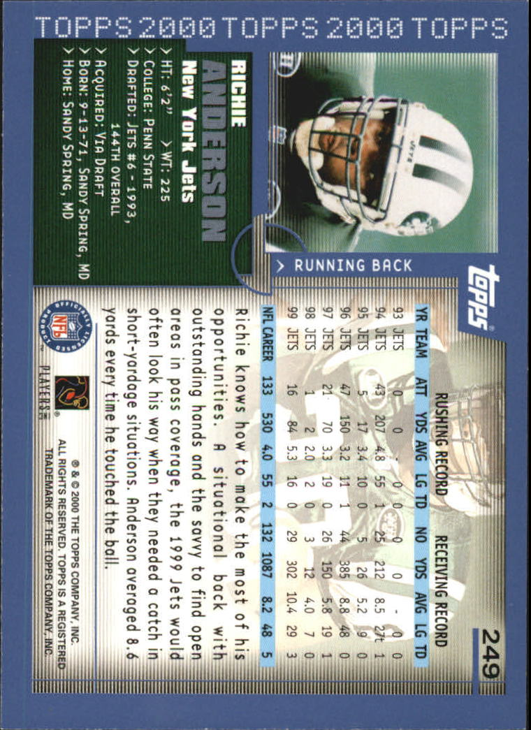 2000-Topps-Football-Base-Singles-3-299-Pick-Your-Cards thumbnail 345