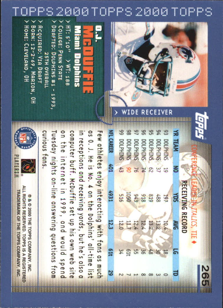 2000-Topps-Football-Base-Singles-3-299-Pick-Your-Cards thumbnail 365