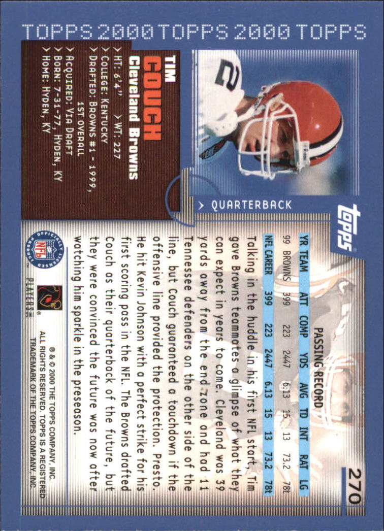 2000-Topps-Football-Base-Singles-3-299-Pick-Your-Cards thumbnail 369