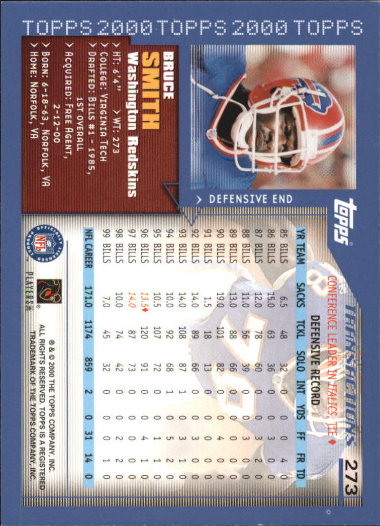 2000-Topps-Football-Base-Singles-3-299-Pick-Your-Cards thumbnail 373