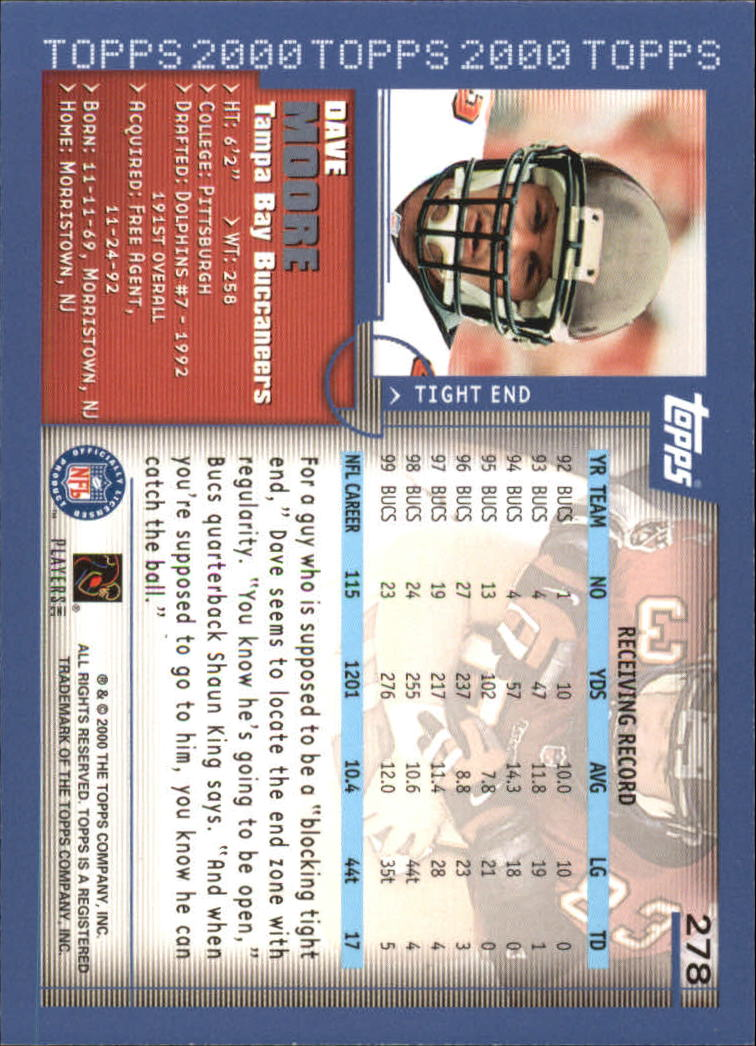2000-Topps-Football-Base-Singles-3-299-Pick-Your-Cards thumbnail 379