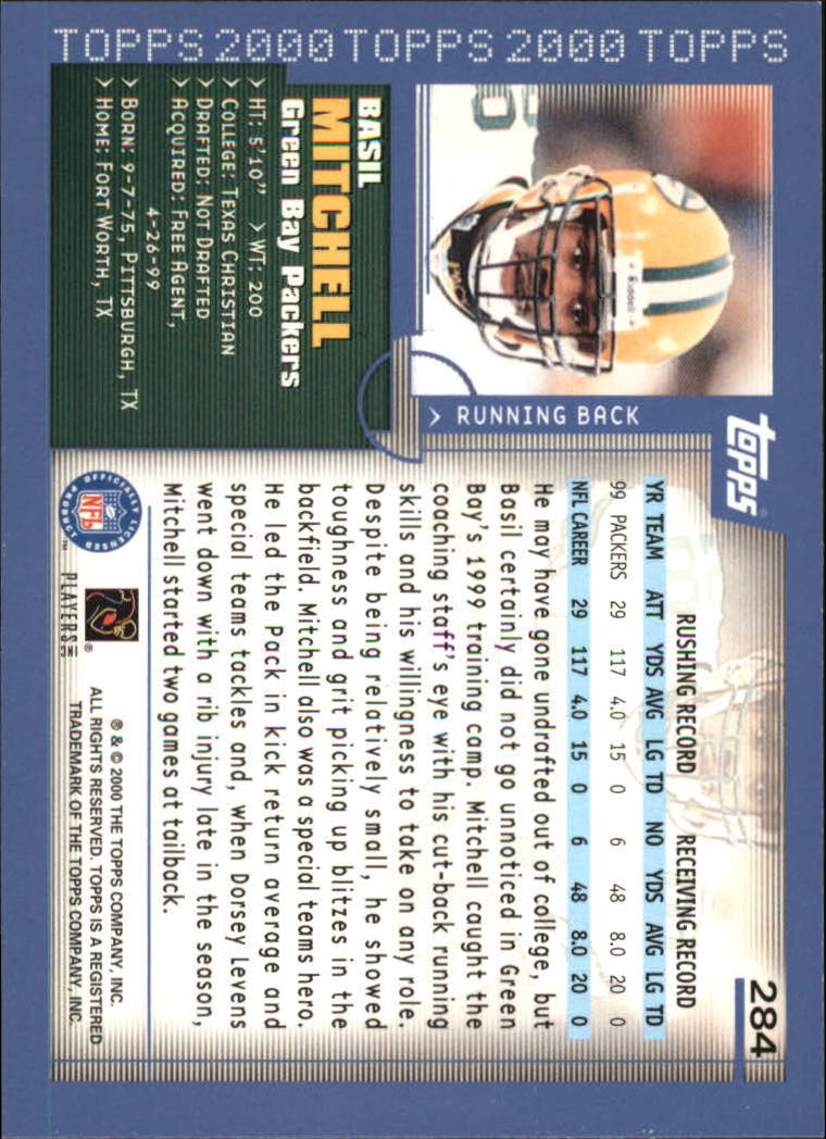 2000-Topps-Football-Base-Singles-3-299-Pick-Your-Cards thumbnail 389