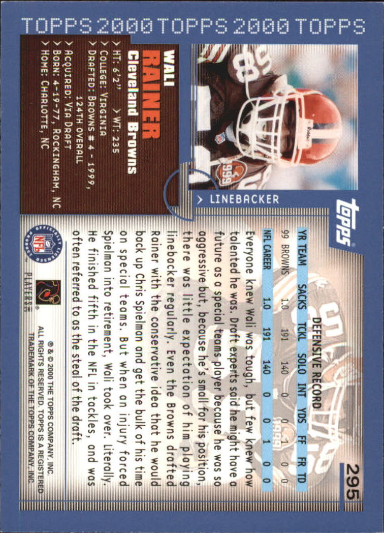 2000-Topps-Football-Base-Singles-3-299-Pick-Your-Cards thumbnail 397