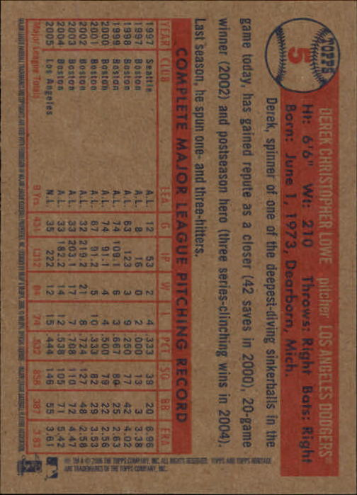 2006-Topps-Heritage-Baseball-Base-Singles-3-150-Pick-Your-Cards thumbnail 7