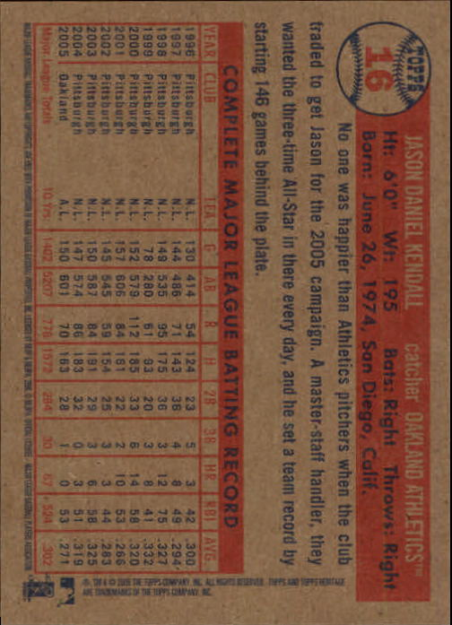 2006-Topps-Heritage-Baseball-Base-Singles-3-150-Pick-Your-Cards thumbnail 19