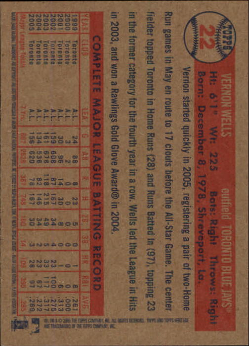 2006-Topps-Heritage-Baseball-Base-Singles-3-150-Pick-Your-Cards thumbnail 29