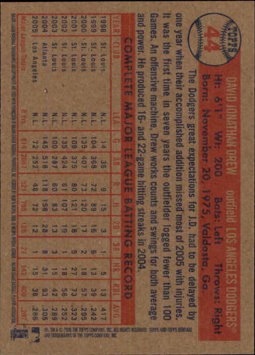 2006-Topps-Heritage-Baseball-Base-Singles-3-150-Pick-Your-Cards thumbnail 51