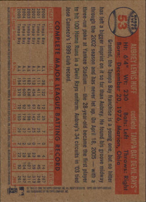 2006-Topps-Heritage-Baseball-Base-Singles-3-150-Pick-Your-Cards thumbnail 57
