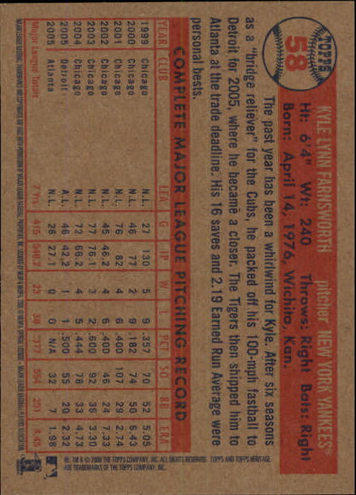 2006-Topps-Heritage-Baseball-Base-Singles-3-150-Pick-Your-Cards thumbnail 59