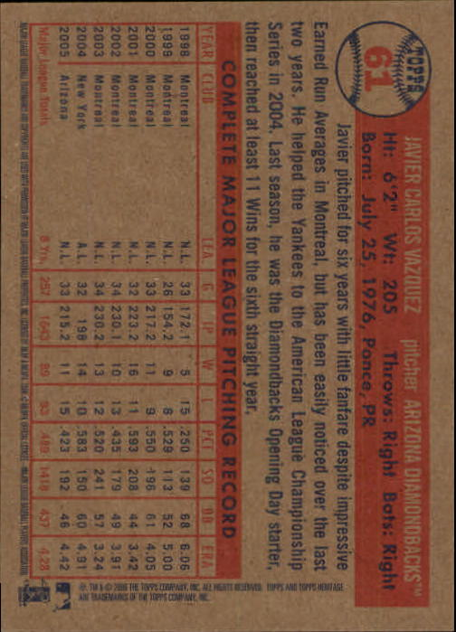 2006-Topps-Heritage-Baseball-Base-Singles-3-150-Pick-Your-Cards thumbnail 65
