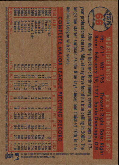 2006-Topps-Heritage-Baseball-Base-Singles-3-150-Pick-Your-Cards thumbnail 71
