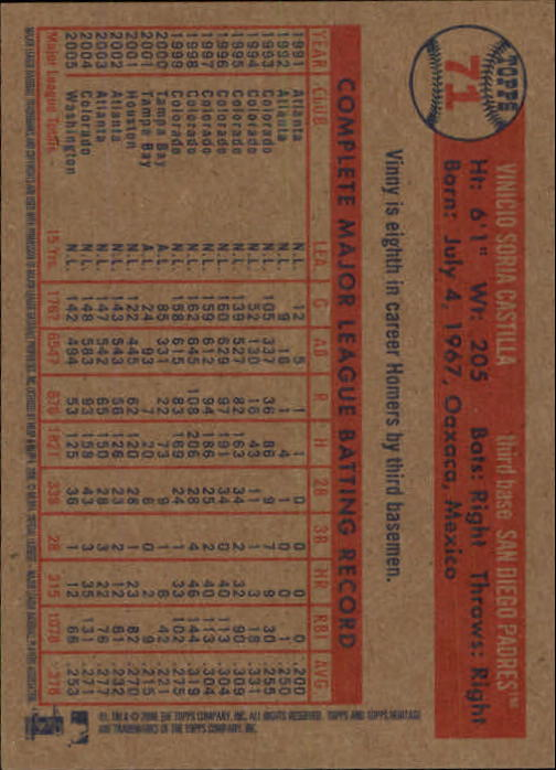 2006-Topps-Heritage-Baseball-Base-Singles-3-150-Pick-Your-Cards thumbnail 75