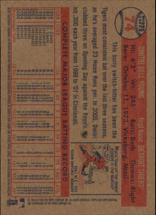 2006-Topps-Heritage-Baseball-Base-Singles-3-150-Pick-Your-Cards thumbnail 81