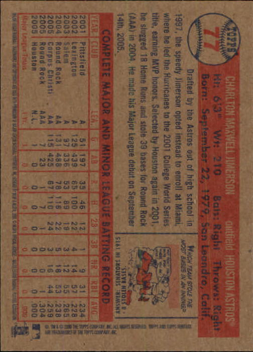 2006-Topps-Heritage-Baseball-Base-Singles-3-150-Pick-Your-Cards thumbnail 85
