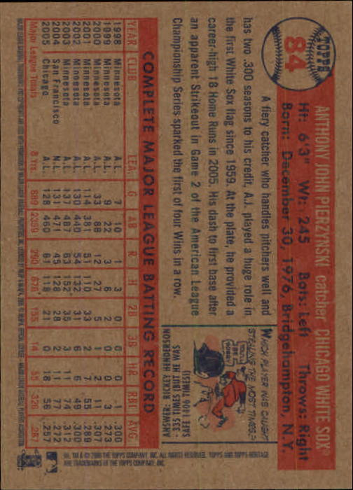2006-Topps-Heritage-Baseball-Base-Singles-3-150-Pick-Your-Cards thumbnail 92