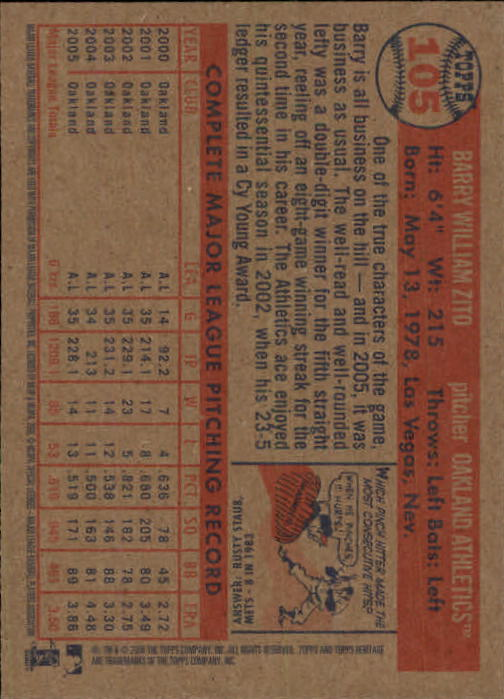 2006-Topps-Heritage-Baseball-Base-Singles-3-150-Pick-Your-Cards thumbnail 118